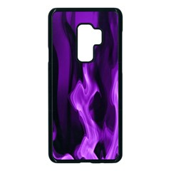 Smoke Flame Abstract Purple Samsung Galaxy S9 Plus Seamless Case(black) by HermanTelo