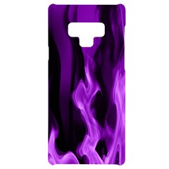 Smoke Flame Abstract Purple Samsung Note 9 Black Uv Print Case  by HermanTelo