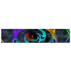 Rainbow Fractal Clouds Stars Small Flano Scarf
