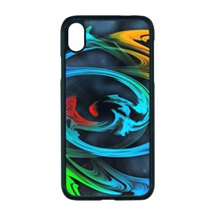 Rainbow Fractal Clouds Stars Iphone Xr Seamless Case (black)