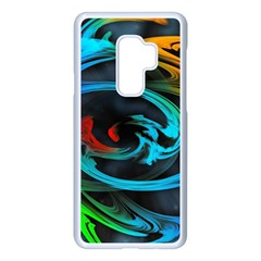 Rainbow Fractal Clouds Stars Samsung Galaxy S9 Plus Seamless Case(white) by HermanTelo