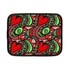 Seamless Heart Love Valentine Netbook Case (small) by HermanTelo