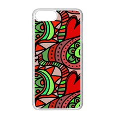 Seamless Heart Love Valentine Iphone 8 Plus Seamless Case (white)