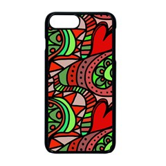 Seamless Heart Love Valentine Iphone 8 Plus Seamless Case (black)