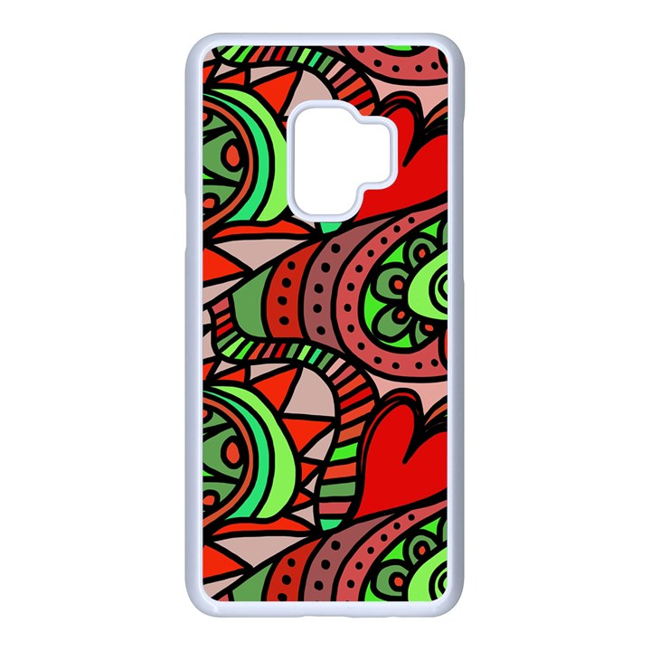 Seamless Heart Love Valentine Samsung Galaxy S9 Seamless Case(White)