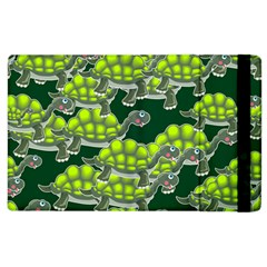 Seamless Turtle Green Apple Ipad 2 Flip Case by HermanTelo