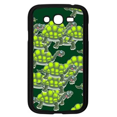 Seamless Turtle Green Samsung Galaxy Grand Duos I9082 Case (black) by HermanTelo