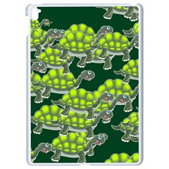 Seamless Turtle Green Apple Ipad Pro 9 7   White Seamless Case