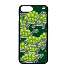 Seamless Turtle Green Iphone 8 Plus Seamless Case (black)