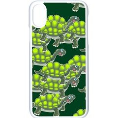 Seamless Turtle Green Iphone Xs Seamless Case (white)
