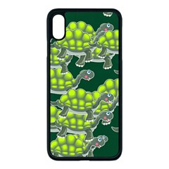 Seamless Turtle Green Iphone Xs Max Seamless Case (black)