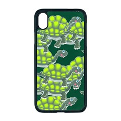 Seamless Turtle Green Iphone Xr Seamless Case (black)