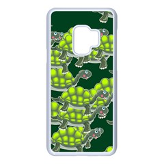Seamless Turtle Green Samsung Galaxy S9 Seamless Case(white) by HermanTelo