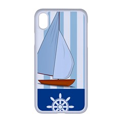 Yacht Boat Nautical Ship Iphone Xr Seamless Case (white)