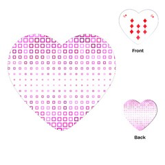 Square Pink Pattern Decoration Playing Cards (heart)