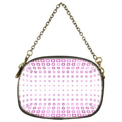 Square Pink Pattern Decoration Chain Purse (one Side) by HermanTelo
