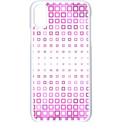 Square Pink Pattern Decoration Iphone X Seamless Case (white) by HermanTelo
