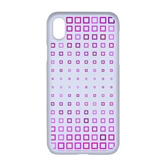 Square Pink Pattern Decoration Iphone Xr Seamless Case (white)