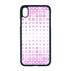 Square Pink Pattern Decoration Iphone Xr Seamless Case (black)