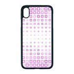 Square Pink Pattern Decoration iPhone XR Seamless Case (Black) Front