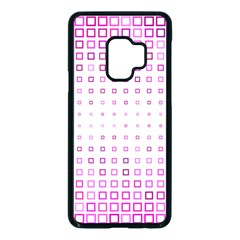 Square Pink Pattern Decoration Samsung Galaxy S9 Seamless Case(black)