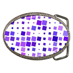 Square Purple Angular Sizes Belt Buckles