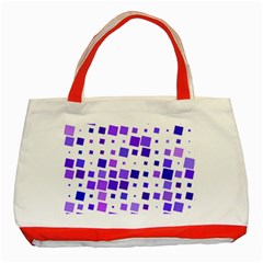 Square Purple Angular Sizes Classic Tote Bag (red)
