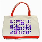 Square Purple Angular Sizes Classic Tote Bag (Red) Front