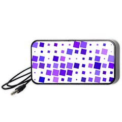 Square Purple Angular Sizes Portable Speaker