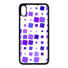 Square Purple Angular Sizes Iphone Xs Max Seamless Case (black)