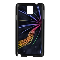 Stars Space Firework Burst Light Samsung Galaxy Note 3 N9005 Case (black) by HermanTelo