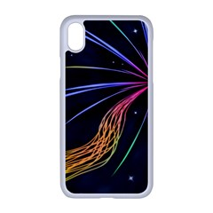 Stars Space Firework Burst Light Iphone Xr Seamless Case (white)