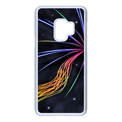 Stars Space Firework Burst Light Samsung Galaxy S9 Seamless Case(white)
