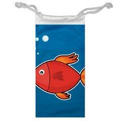 Sketch Nature Water Fish Cute Jewelry Bag by HermanTelo