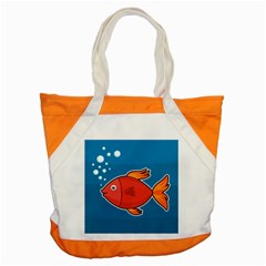 Sketch Nature Water Fish Cute Accent Tote Bag by HermanTelo