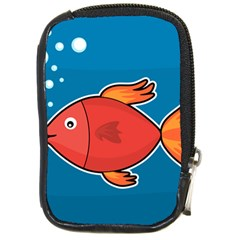 Sketch Nature Water Fish Cute Compact Camera Leather Case by HermanTelo