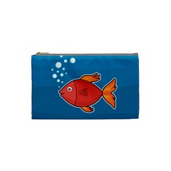 Sketch Nature Water Fish Cute Cosmetic Bag (small) by HermanTelo