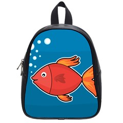 Sketch Nature Water Fish Cute School Bag (small) by HermanTelo