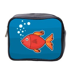 Sketch Nature Water Fish Cute Mini Toiletries Bag (two Sides)