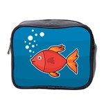 Sketch Nature Water Fish Cute Mini Toiletries Bag (Two Sides) Front