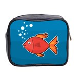 Sketch Nature Water Fish Cute Mini Toiletries Bag (Two Sides) Back