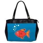 Sketch Nature Water Fish Cute Oversize Office Handbag (2 Sides) Front