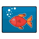 Sketch Nature Water Fish Cute Fleece Blanket (Small) 50 x40  Blanket Front