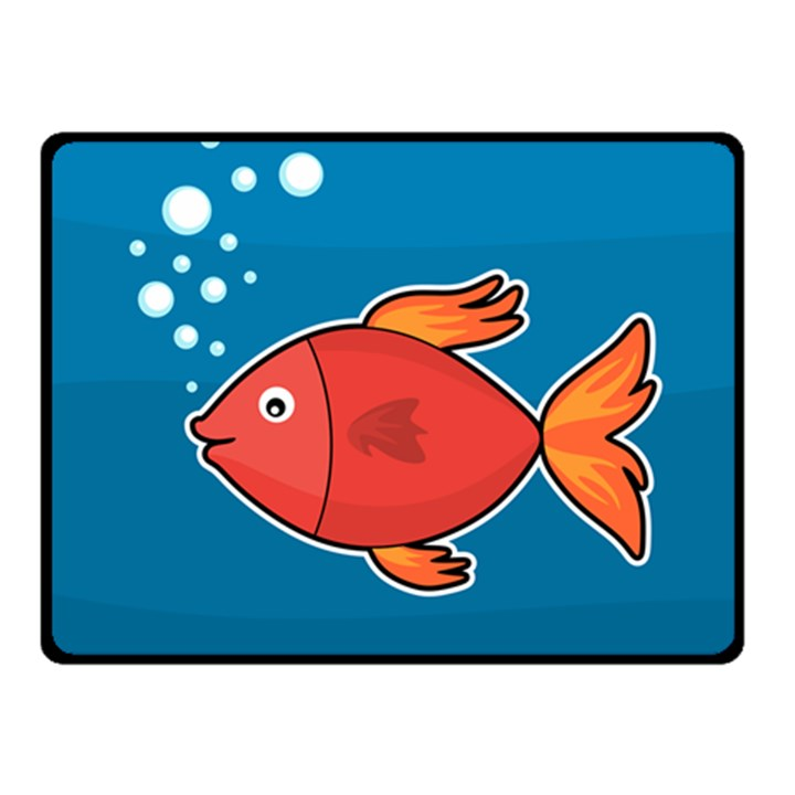 Sketch Nature Water Fish Cute Fleece Blanket (Small)