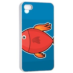 Sketch Nature Water Fish Cute Iphone 4/4s Seamless Case (white)