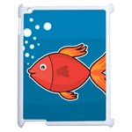 Sketch Nature Water Fish Cute Apple iPad 2 Case (White) Front