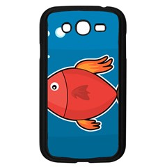 Sketch Nature Water Fish Cute Samsung Galaxy Grand Duos I9082 Case (black) by HermanTelo