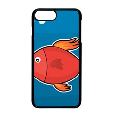 Sketch Nature Water Fish Cute Iphone 8 Plus Seamless Case (black)
