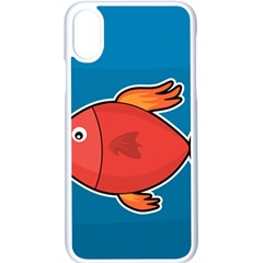 Sketch Nature Water Fish Cute Iphone X Seamless Case (white)