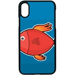 Sketch Nature Water Fish Cute Iphone X Seamless Case (black) by HermanTelo